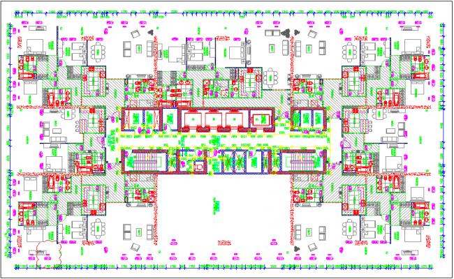 Resident plan of tower B for mechanical level 26
