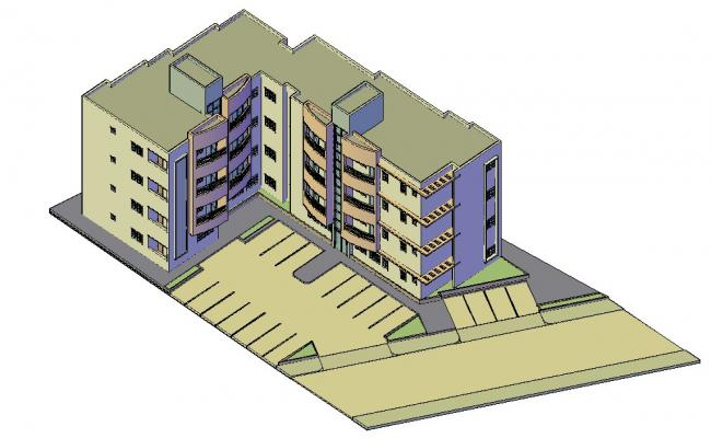 Residential Apartment 3d model AutoCAD drawing