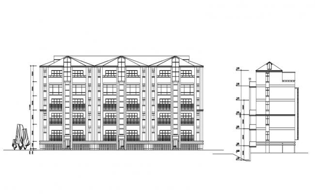 Residential Apartment Facade and Section Design