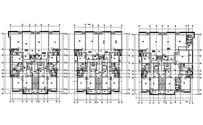 Residential Apartment Layout Plan AutoCAD Drawing