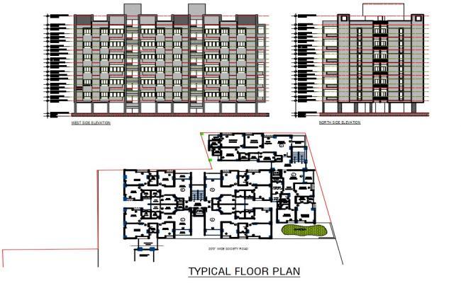 Residential Apartment Plan DWG File