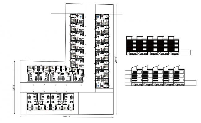 Residential Apartment Plan In AutoCAD File