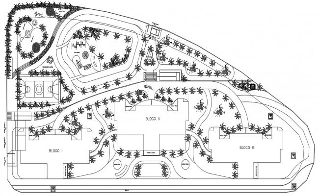Residential Area Planning 2d Architecture CAD drawing