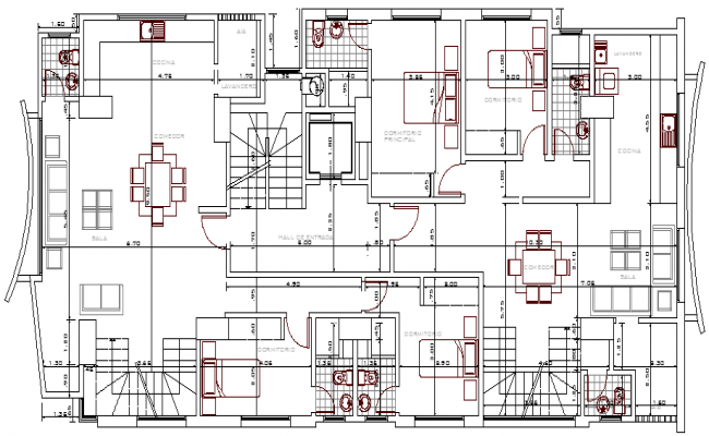 Residential building design and structure design dwg file for Residential building plans dwg