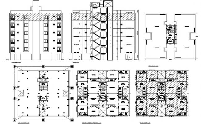 Residential Building Drawing In AutoCAD File