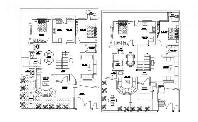 Residential Bungalow Plan Download