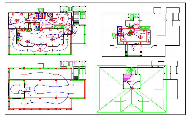 Residential Electrical lay-out architectural drawing