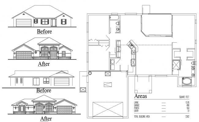 Residential Home Project Design AutoCAD Drawing