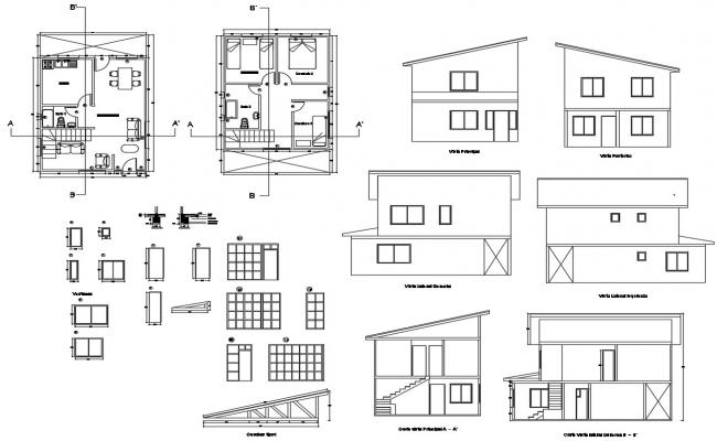 Residential House layout plan 6.00mtr x 7.50mtr