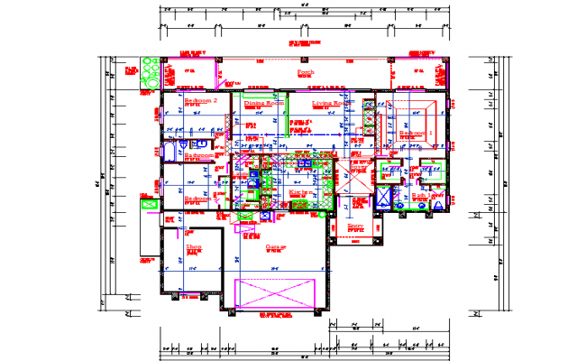 Residential House Floor Lay-out detail