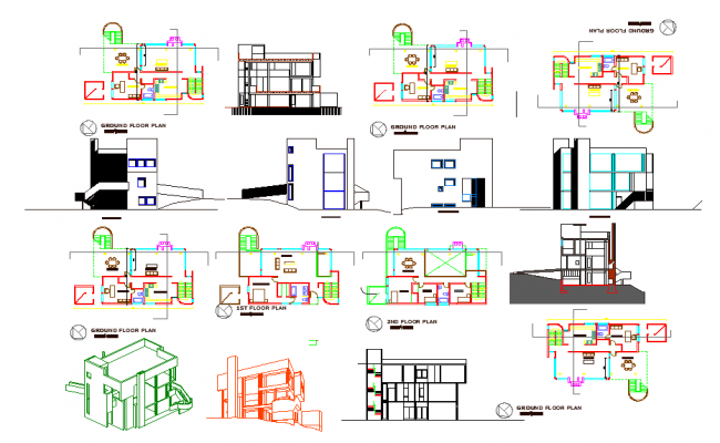 Residential House Project of DWG File