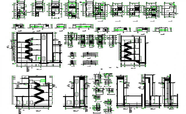 Residential House Stair Detail in Cad file