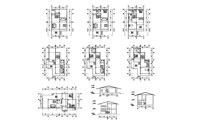 Residential House Plan In DWG File