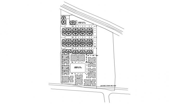 Residential Plot Area CAD Drawing