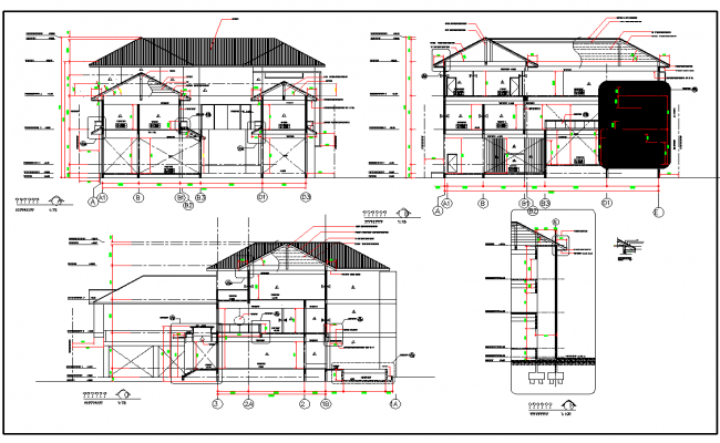 Residential Section Plan with Detailing