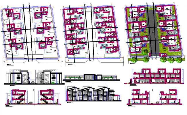 Residential Township dwg file