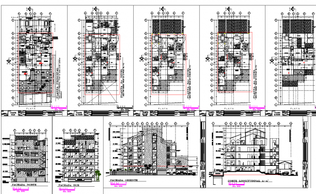 Residential Villa project detail dwg file