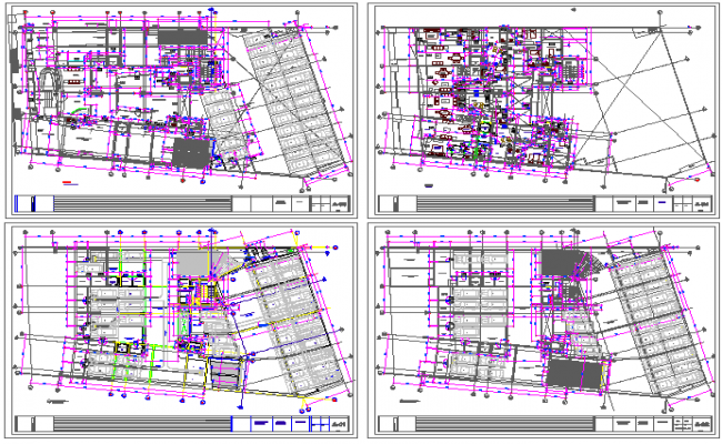 Residential apartment building house layout plan details dwg file
