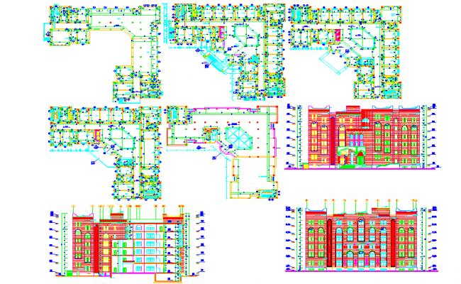 Residential apartment complex floor plans
