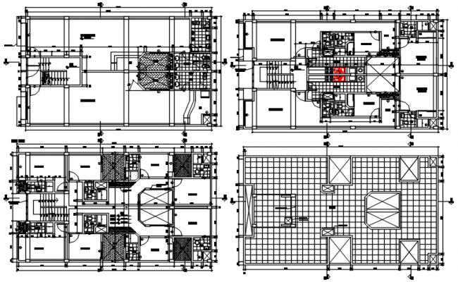 Residential apartment drawing in autocad