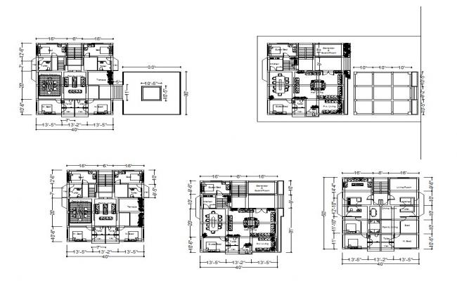 Residential apartment in AutoCAD