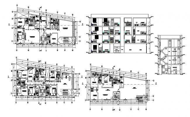 Residential apartment in dwg file