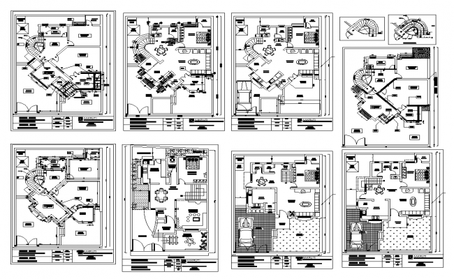 Residential apartment structure detail plan 2d view layout file