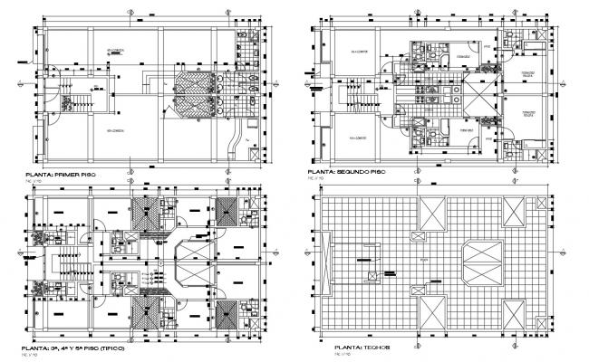 Residential apartment in AutoCAD file