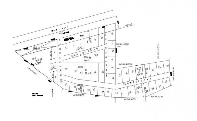 Residential area Plot Design Plan CAD File Download
