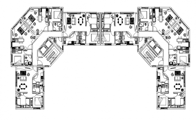 Residential building concept dwg file