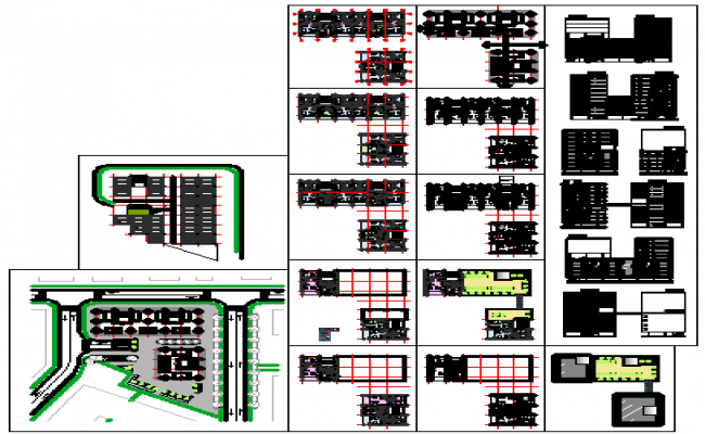 Residential building design drawing