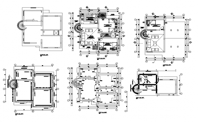 Residential building working plan detail 2d view layout file