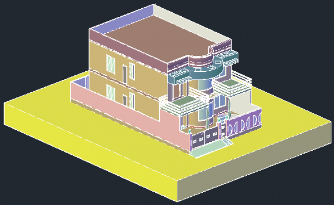 Residential bungalow in 3D