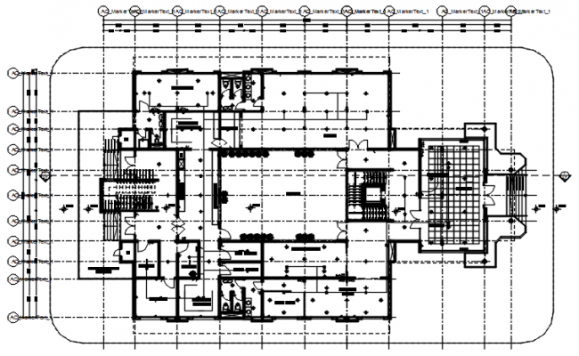 Residential bungalow in autocad