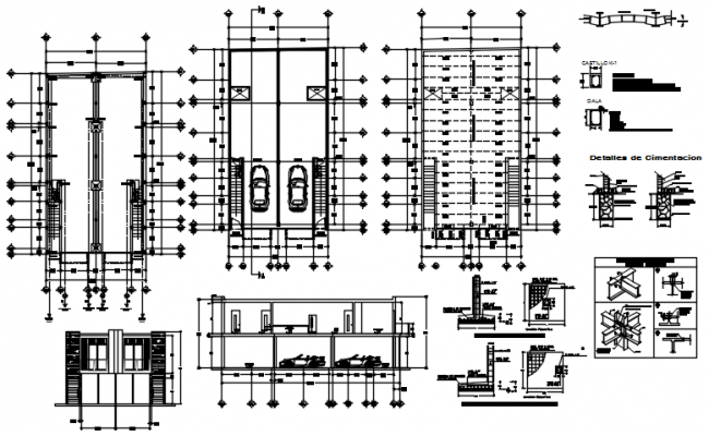 Residential bunglow layout in dwg file