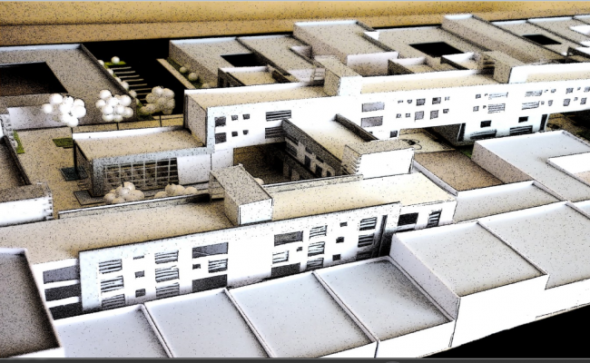 Residential Complex 3d Top View Design Dwg File