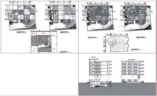 Residential Complex Layout Dwg