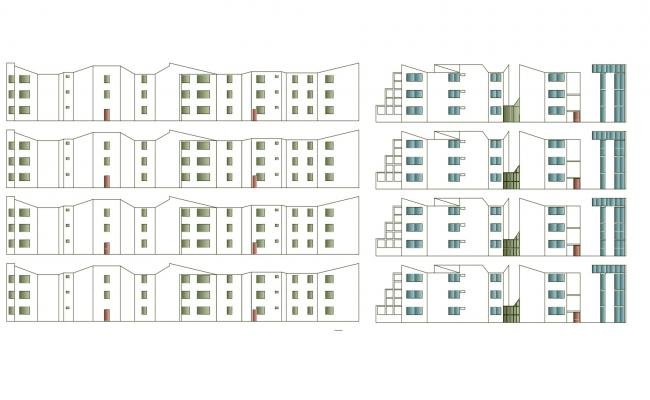 Residential Home Design In DWG File