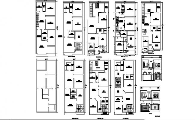 Download free Residential house design in DWG file