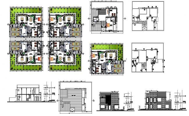 Modern 2 Storey House Design In AutoCAD File