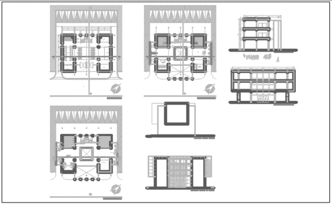 Residential house elevation view detail dwg file