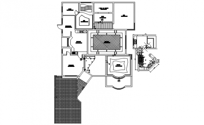Residential house in AutoCAD