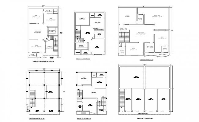 Residential house layout in AutoCAD