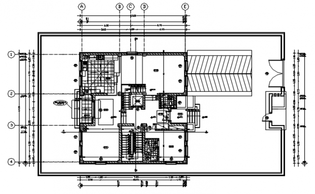 Residential house of autocad drawing