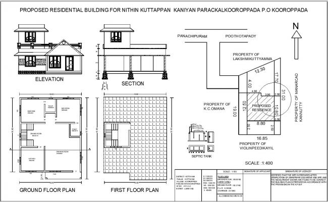 Residential house plan cad files download free