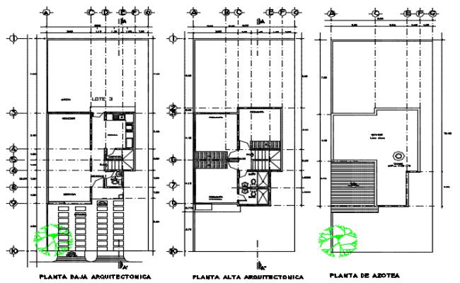 Residential house plan detail dwg file