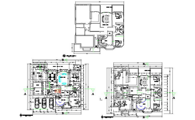 Residential house plan layout file