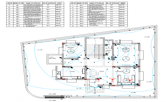 Residential house plan view detail electrical plan layout for Residential building plans dwg