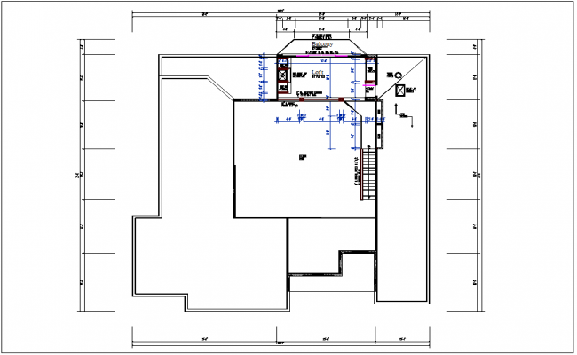 Residential house plan view layout dwg file