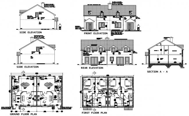 Residence House Plan In DWG File